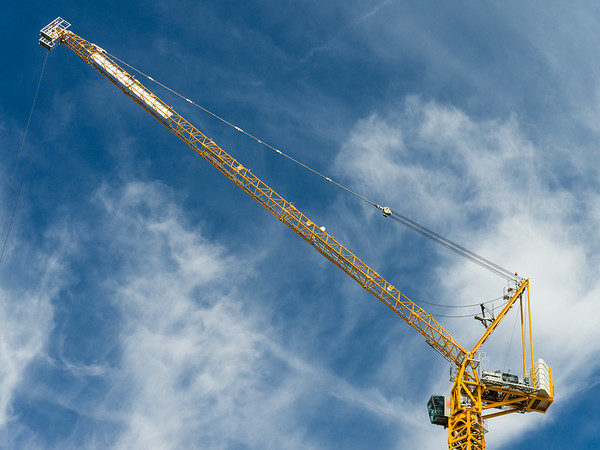 Blue Sky, Yellow Crane