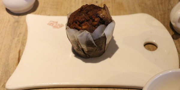 Chocolate muffin at Le Pain Quotidien
