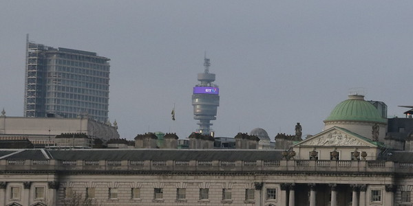 BT Tower from the Jubilee Walkway