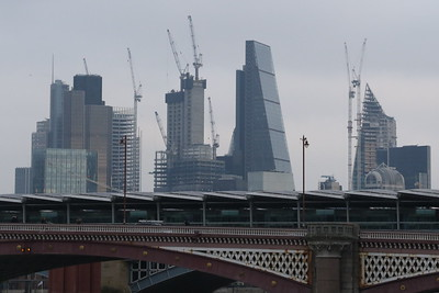 From the Jubilee Walkway, Blackfriars Station and the City of London.
