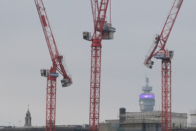Cranes and the BT Tower