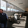 Tour of the new Lowell Justice Center with Clerk Michael Sullivan. This is the jury pool room (now being used by the furniture company employees). It will have wifi and places to charge phones. (SUN/Julia Malakie)
