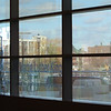 Tour of the new Lowell Justice Center with Clerk Michael Sullivan and project manager Jim Harding. View out from main lobby. (SUN/Julia Malakie)