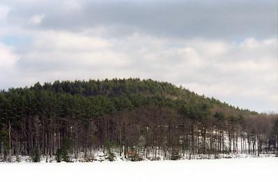 Mine Hill from a frozen Massabessic