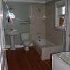 Bathroom off of first floor front bedroom.