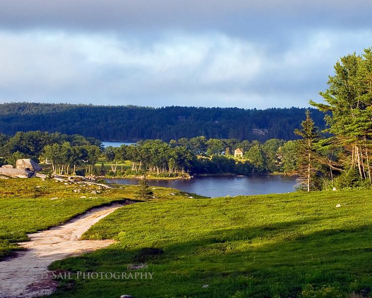 Carleton Island on Salt Pond. Located on Blue Hill Peninsula, Maine.