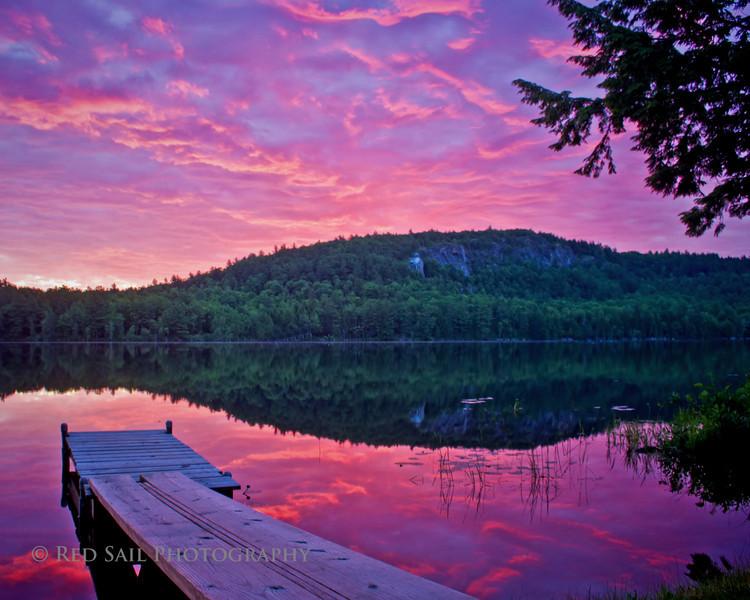 Red Sky Sunrise on Parks Pond.