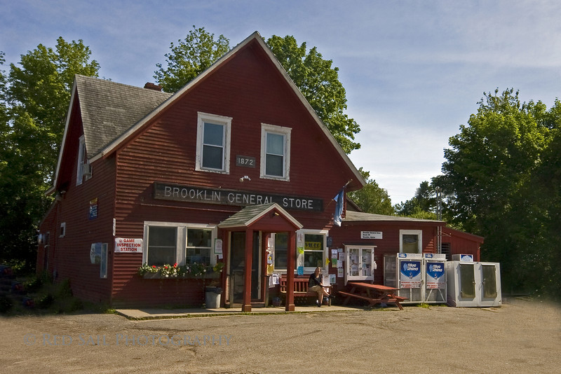 The Brooklin General Store, built in 1872. This is located on the Blue Hill Peninsula, Brooklin Maine.