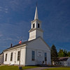 Church in Brooklin, Maine. Built in 1853. Located on the Blue Hill Peninsula.