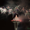 Fireworks / Top of Space Needle / Seattle Downtown<br /> <br /> New Year 2011 Celebrations