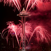Fireworks / Space Needle / Seattle Downtown<br /> <br /> New Year 2011 Celebrations