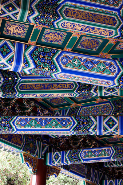Roof supports, decorated to the max