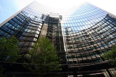 Lloyds reflected in adjacent building