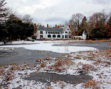 Chelsea Mansion with frozen pond.