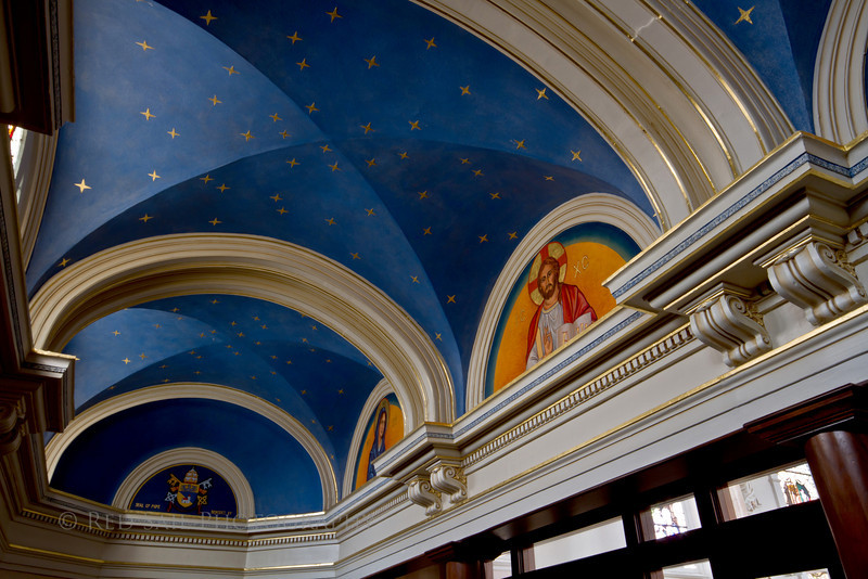 Foyer in the Basilica of Saint Mary of the Assumption. Marietta, Ohio.