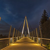Illuminated Pedestrian Bridge