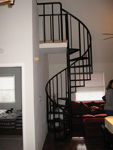 Stairway to the loft.