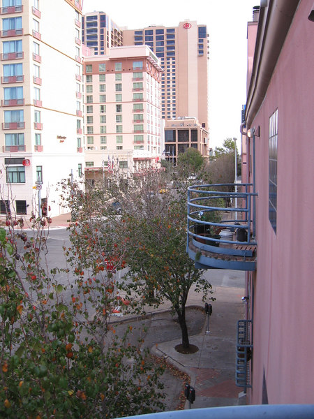 4th street looking East from the balcony.