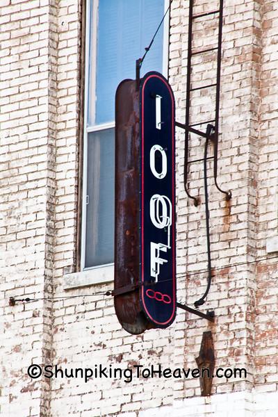 Sign for I.O.O.F. Lodge, Keokuk, Iowa