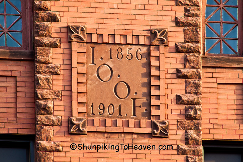 I.O.O.F. Lodge Nameplate, Lancaster, Wisconsin