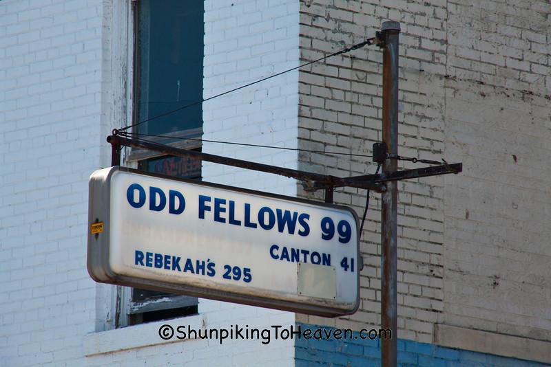 Sign for I.O.O.F. Lodge No. 99, Mexico, Missouri