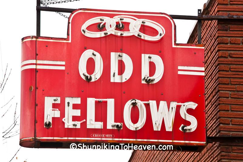 Odd Fellows Neon Sign, Rock County, Wisconsin