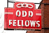 Odd Fellows Neon Sign, Rock County, Wisconsin