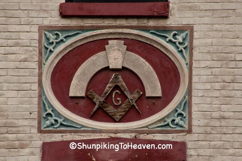Masonic Emblem,  Zanesville, Ohio