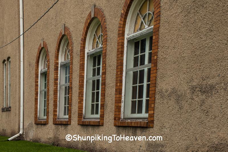 Windows of Masonic Temple, Edgerton, Wisconsin