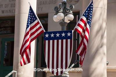 Flags at Veterans Memorial Hall and Museum, Rockford, Illinois