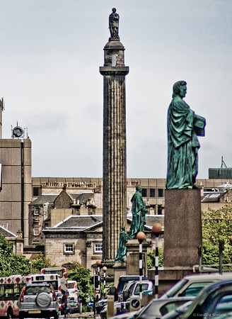 Statues in George Street, Edinburgh