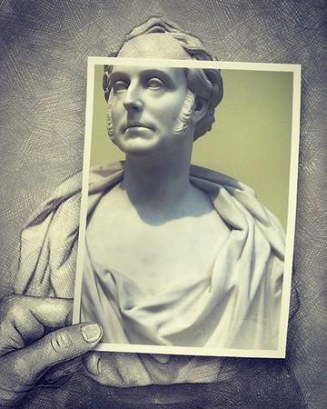 Bust Examination - Sir Archibald Alison @scottishnationalportrait #gallery #slavery #plantationowner #scottishhistory #sculpture #bust