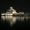 Museum of Islamic Art, as seen from the Corniche, Doha, Qatar.