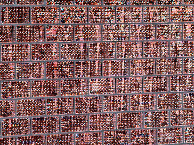 Close up of the LED matrix