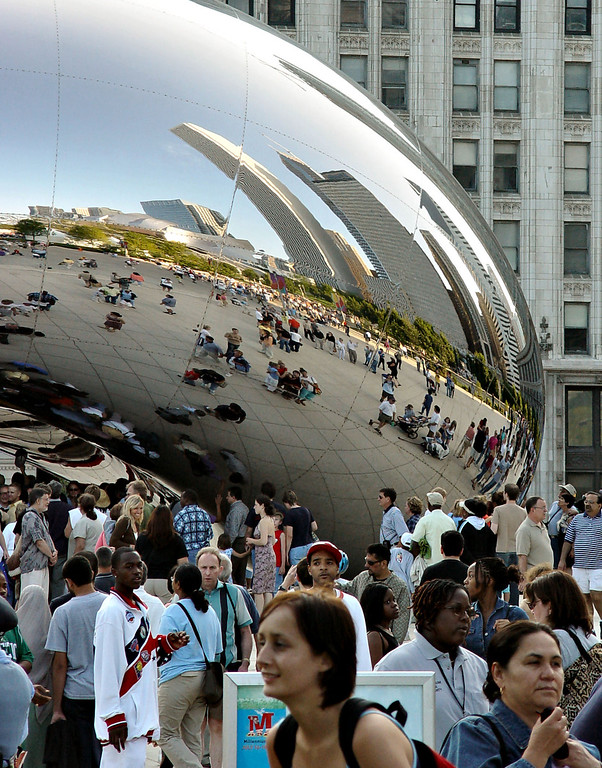 When we first saw the Cloud Gate, my friends and I immediately thought of Flight of the Navigator. :)