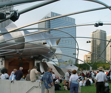 A little better view of the Pritzker Pavillion