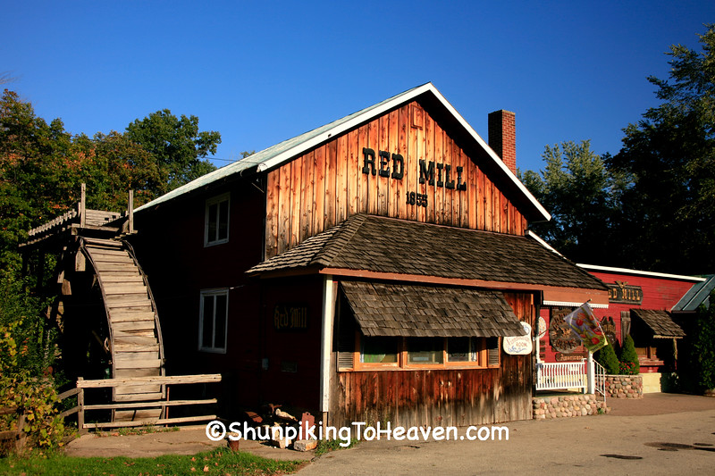 The Red Mill (Originally the Crystal River Grist Mill, Built 1855), Waupaca County, Wisconsin