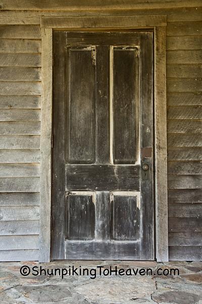Door of Wommack Mill, Fair Grove, Missouri
