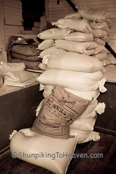 Sacks of Grist, Old Mill of Guilford, Guilford County, North Carolina
