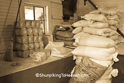 Sacks of Sugar and Grist, Old Mill of Guilford, Guilford County, North Carolina