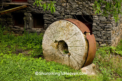 Millstone at Old Mill of Guilford, Guilford County, North Carolina