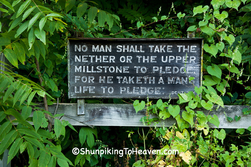 Bible Verse Sign at Hyde's Mill, Iowa County, Wisconsin