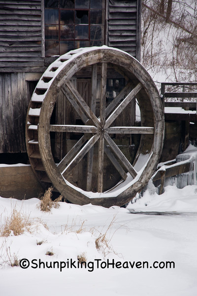 Overshot Waterwheel at Hyde's Mill, Iowa County, Wisconsin