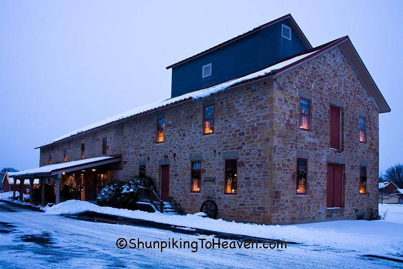 Mazo Mill (The Old Feed Mill Restaurant),  Built 1857, Mazomanie, Wisconsin