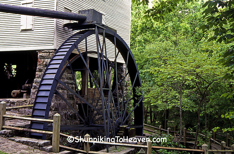 Mill Springs Mill with Overshot Waterwheel, 1877, Wayne County, Kentucky