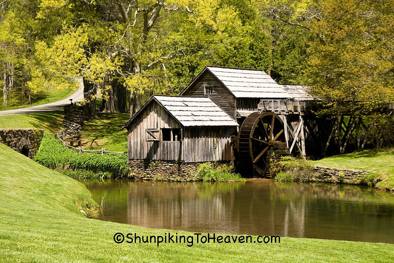 Mabry Mill in the Spring, Built 1910, Floyd County, Virginia