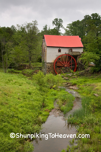 Old Mill of Guilford, Founded 1767 on Beaver Creek, Guilford County, North Carolina