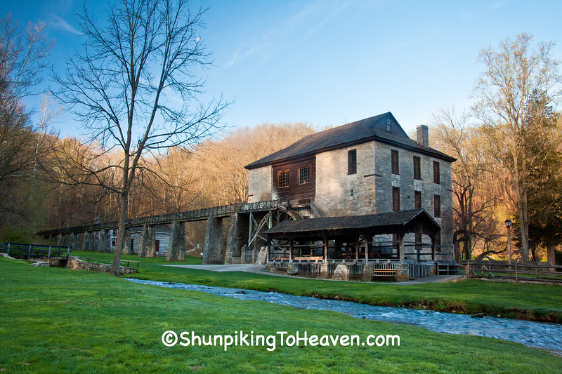 Hamer Grist Mill, Spring Mill State Park, Mitchell, Indiana