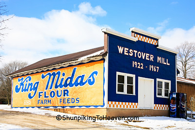 King Midas Flour Mural at Westover Mill, Winnebago County, Wisconsin