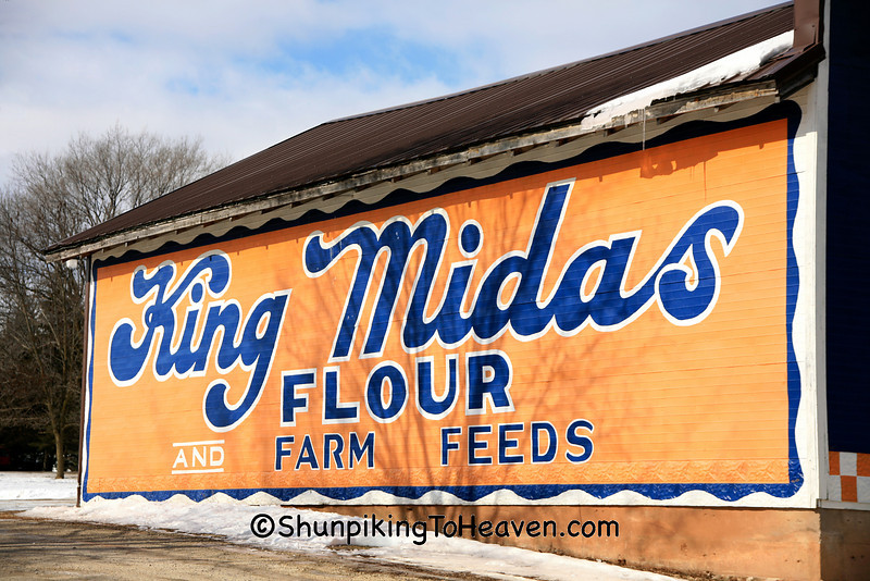 King Midas Flour Advertising Mural, Winnebago County, Wisconsin